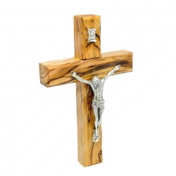Деревянный католический крест ручной работы