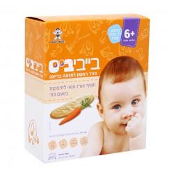 Детское рисовое печенье Baby Bites морковное 6+