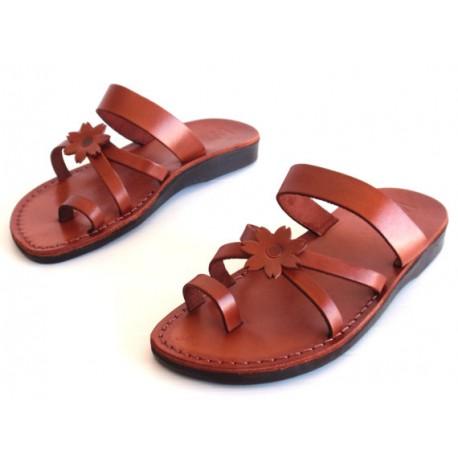 Женские библейские сандалии из натуральной кожи