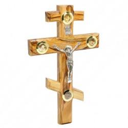 Православное настенное распятие из оливкового дерева