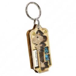 Брелок с ключом на удачу и дорожной молитвой