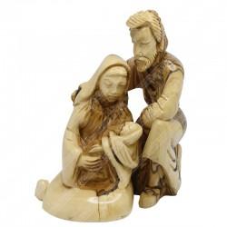 Статуэтки из оливкового дерева ручной работы Иосиф, Мария и младенец Иисус