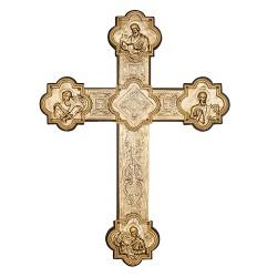 Крест напрестольный с серебром и позолотой