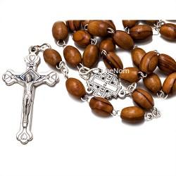 Крест c четками (розарий) из оливкового дерева