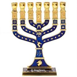 Менора (минора) из Иерусалима с эмалевым покрытием