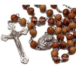 Четки Католические с распятием (розарий) из дерева