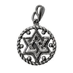 Кулон звезда Давида (Маген Давид) серебро 925 пр.