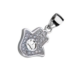 Кулон Хамса с кристаллами Сваровски (серебро)
