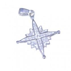Кулон Вифлеемская звезда с кристаллами Сваровски (серебро)