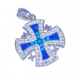 Крест Иерусалимский освященный (серебро 925 пр.)