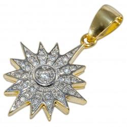 Кулон Вифлеемская звезда (серебро 925 пр., позолота)