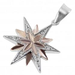 Подвеска Вифлеемская Звезда (серебро 925 пр., позолота)