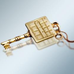 Кулон - Печать Ключ от всех дверей + цепочка (покрытие золото 24к)