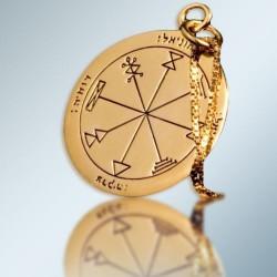 Кулон - Печать Изобилия Соломона + цепочка (покрытие золото 24к)