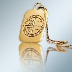 Кулон - Печать от Сглаза + цепочка (покрытие золото 24к)