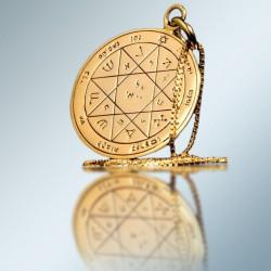 Кулон - Печать Защиты Соломона + цепочка (покрытие золото 24к)
