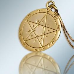 Кулон - Печать Исполнения желаний + цепочка (покрытие золото 24к)