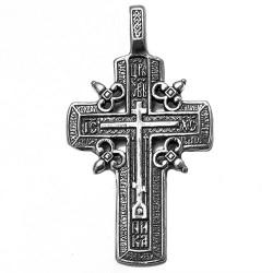 Крестик нательный мужской серебряный. Освящен в Храме