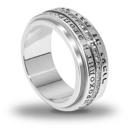 Вращающееся эксклюзивное кольцо Царя Соломона с кристаллами Сваровски (серебро 925пр. позолота 24 к.)