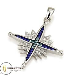 Кулон Вифлеемская звезда серебро