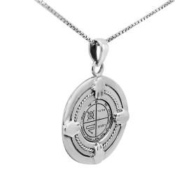 Серебряная печать Соломона на цепочке «От Сглаза» (серебро 925 пр.)