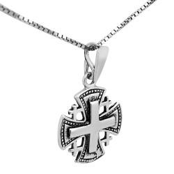 Иерусалимский нательный крестик на цепочке. Освящен в Иерусалиме (серебро 925 пр.)