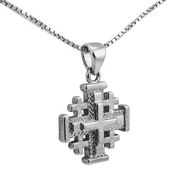 Иерусалимский крестик с цепочкой (серебро 925 пр.). Освящен в Храме Гроба Господня