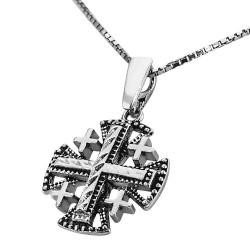 Иерусалимский крест паломника с цепочкой