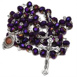 Освященный Католический Розарий из Кристаллов